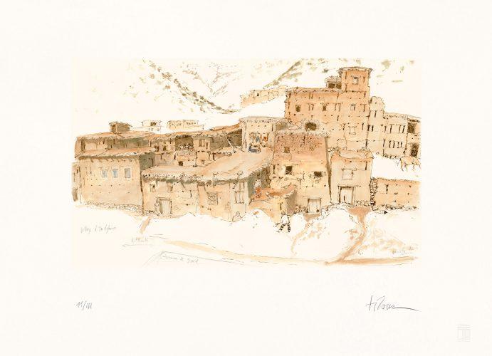 le_village_d_imelghas-maroc-1982-l