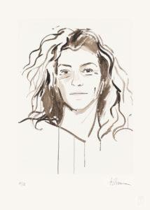 Portrait de Florence Arthaud par Titouan Lamazou
