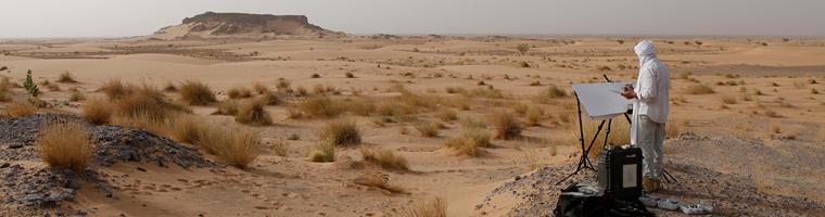 Making-off de titouan dans le désert